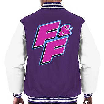 Fast and Furious FF Pink Logo Men's Varsity Jacket