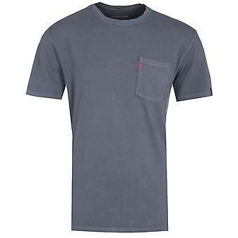 Wahre Religion Brust Tasche Hufeisen Logo grau T-Shirt
