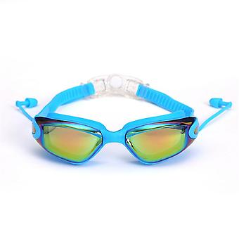Professional Swimming Goggles With Earplugs Nose Clip Electroplate Waterproof