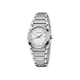 كالفن كلاين - إكسسوارات - ساعات - K6K33146 - النساء - الفضة والأبيض
