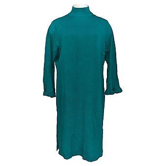 Isaac Mizrahi Live! Vestido pequeño bell manga suéter verde A343218