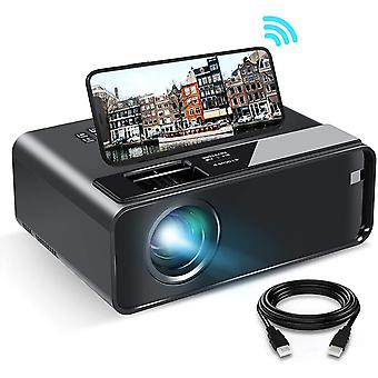 WiFi Mini Projector with Synchronize Smartphone Screen, 1080P HD Projector