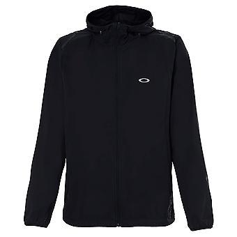 Oakley Mens Link Windbreaker Hooded Anorak Jacket Black 412406A 02E