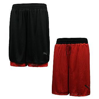 Puma Aktiivinen Koulutus Miesten käännettäviin shortseihin koulutus musta punainen 515176 08 R5E