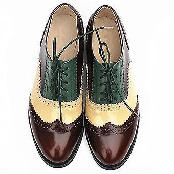 Aito nahka Brogues Vintage Casual Oxfords Kengät Jalkineet
