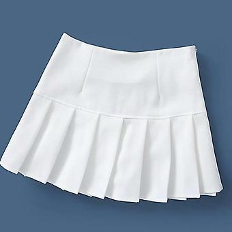 Γυναίκες Καλοκαίρι Υψηλή Μέση πτυχωμένη φούστα, Streetwear, πάνω από το γόνατο, Μίνι Σύντομη