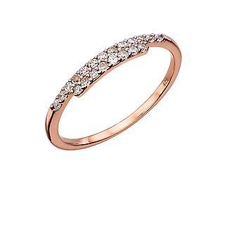Elemente Silber - Frauen Zirkonia Ring