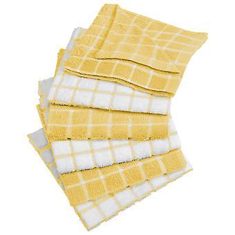 Dii Yellow Combo Windowpane Dishcloth (Set di 6)