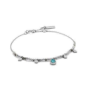 Ania Haie Silver Rhodium Plated Turquoise Labradorite Bracelet B014-03H