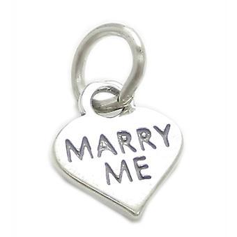Marry Me Small Sterling Silver Charm .925 X 1 Frieri Äktenskap Charms - 4106