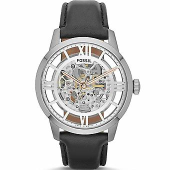 Fossil ME3041 Townsman Automatic See Through Dial Black Leather Men's Watch