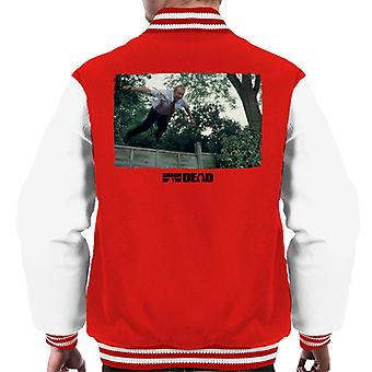 Shaun of the Dead Jumping Over Fence Men's Varsity Jacket