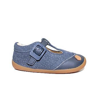 Clarks Roamer Cub Toddler Navy Suede Leather Girls Pre Walker Shoes