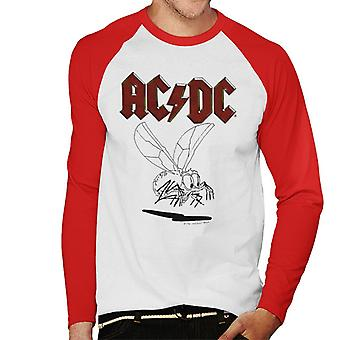AC/DC Mosquito Sketch Men's Baseball Long Sleeved T-Shirt