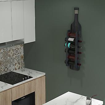 Hektor Black Bottle Rack i træ, reb, L21xP13.5xA104 cm