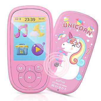 Agptek bluetooth dětský MP3 přehrávač, odměna za narozeninový dárek pro děti, hudební přehrávač s 2,4 lcd velkým s wof55049