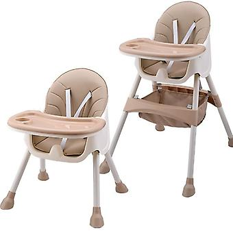 Children Feeding Dining Highchair, Double Tables, Multi-function Height-adjust