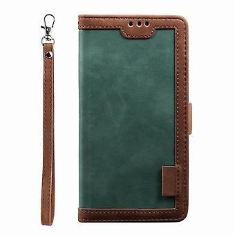 Stylish leather case with wrist strap for iPhone XR - Green