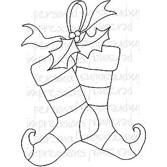 Lindsay Mason Designs Zendoodle Christmas Stocking Clear Stamp