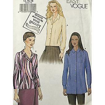 Vogue Sewing Pattern 7409 se pierde la blusa Tamaño 14-16-18