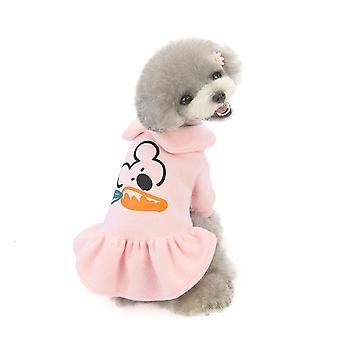 صغير الخريف والشتاء لطيف القطن تنورة ملابس الحيوانات الأليفة