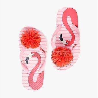 Joules Flip Flop Jnr Piger Beach Sandaler Pink Flamingo