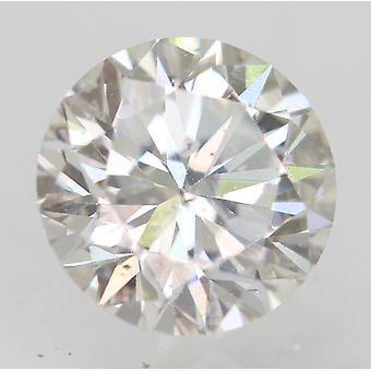 Sertifioitu 0,64 karat F VS2 pyöreä brilliant parannettu luonnon timantti 5.46mm 3VG