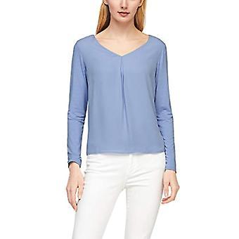 s.Oliver BLACK LABEL 150.10.102.12.130.2059329 T-Shirt, Azzurro, 44 Donna