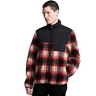 Veste Zip chaude d'élément Abenaki en rouge noir