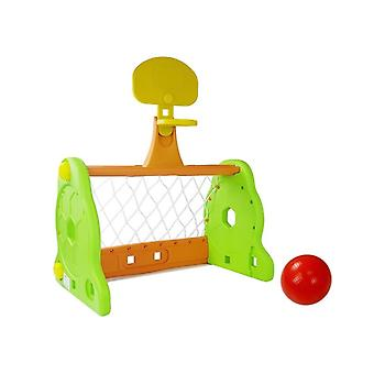 Football goal and basketball goal 2-in-1 – with ball