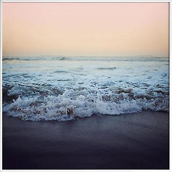 JUNIQE Print - Crash into me - Oceans, Seas & Lakes Poster in Brown & Orange