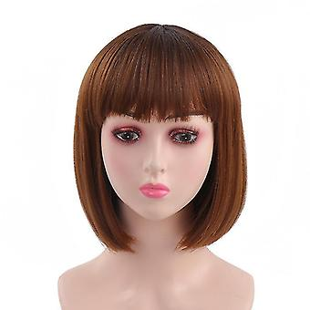 Convenient women's realistic wigs fashion synthetic wig fake hair