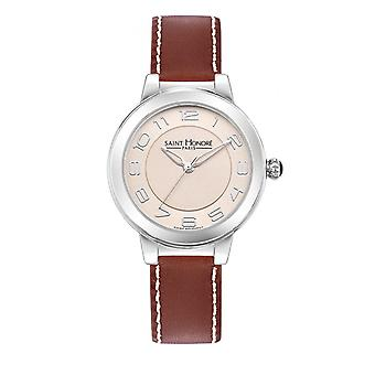 Montre Femme Saint Honor 7220521BGBN - Brown Leather Strap
