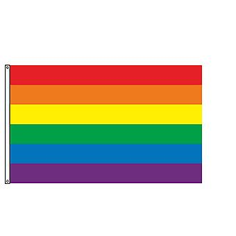 Rainbow flag gay les pride peace lgbt asexualism banner 3x6 ft ch16