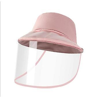 1Stücke rosa Schutz Gesicht Hut Anti Speichel abnehmbare Schild x1724