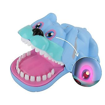 Blue crocodile tricky tooth extraction game decompression interactive toy x447