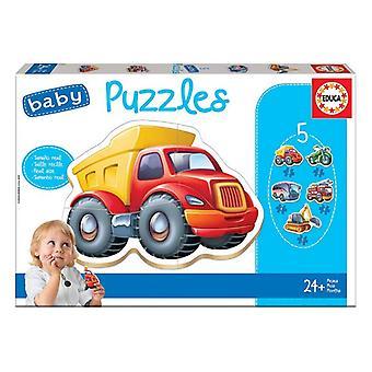5-Puzzle Set Baby Educa Autos
