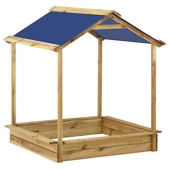 vidaXL Garten-Spielhaus mit Sandkasten 128x120x145 cm Kiefernholz