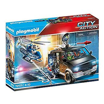 Playset City Action Police Helicopter Playmobil 70575 (124 pièces)