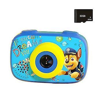 Dětský digitální fotoaparát 1080P, dětská kamera HD (modrá)