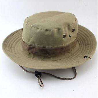 Clasic US Combat Army Style Gi Boonie Bush Jungle Hat, Sun Fishing Cap (Kaki)
