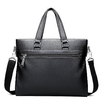 Männer Leder Tragbare Schulter Messenger Handtasche Business Bag