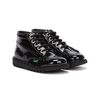 كيكرز جونيور ركلة مرحبا براءات الاختراع والجلود والأحذية السوداء