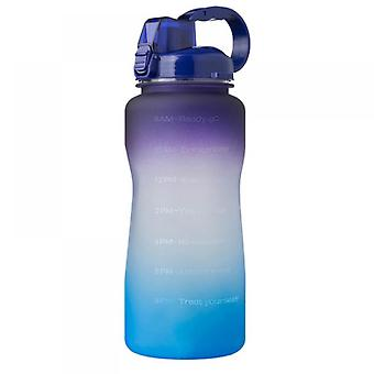 2000ml Motivational Water Bottle With Time Marker And Straw, Leakproof Tritan Bpasports Bottle