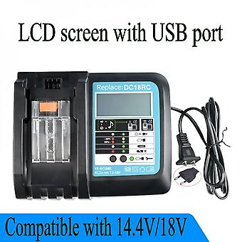 Suitable For Makita Dc18rc 3ah With Screen Charger Bl1830 14.4v/18v Charger