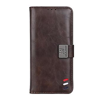 Case For Samsung Galaxy S21 Fe 5g/4g Cover Shockproof Leather Wallet Book Flip Folio Card Holder - Brown