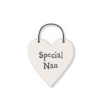 Special Nan - Mini Wooden Hanging Heart - Cracker Filler Gift