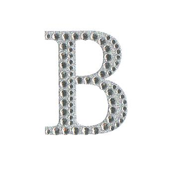 5cm Klar Selvklebende Diamante Bokstaver - B | Diamante Edelstener Utsmykninger