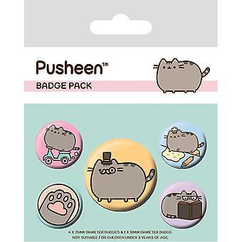 Pusheen Fancy Badge Set (5er Pack)