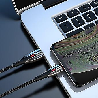 JOYROOM S-M379 3.0A 8 Pin auf USB Schnellladung geflochtenes Datenkabel, Länge: 2m (Schwarz)